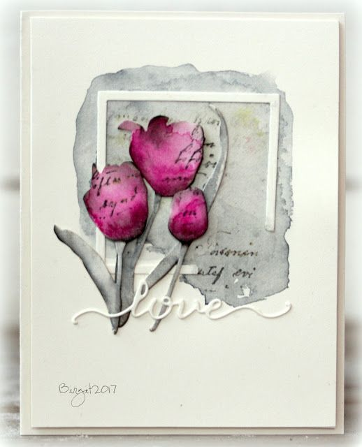This time of the year I want tulips, both on my cards and the table!❤️     For this card I used dies from Penny Black     Promise me II   H...
