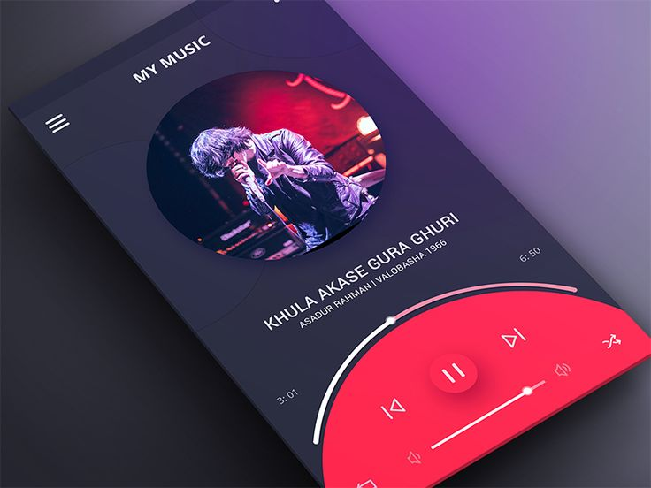 Music UI | Exploration by Masum Parvej 