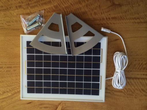 solar flood light panel and brackets