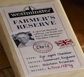 Westminster Farmer's Reserve - The very best hand picked #cheddar is aged over 2 years. #Westminster Farmer's Reserve is something rather special. #FarmersReserve #EnglishCheese #EnglishCheddar #Australia #lovecheese