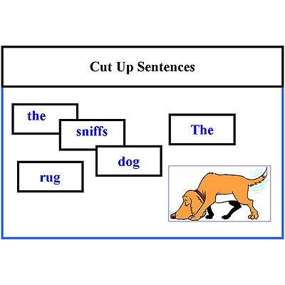Cut Up Sentences Reading Activity level 1