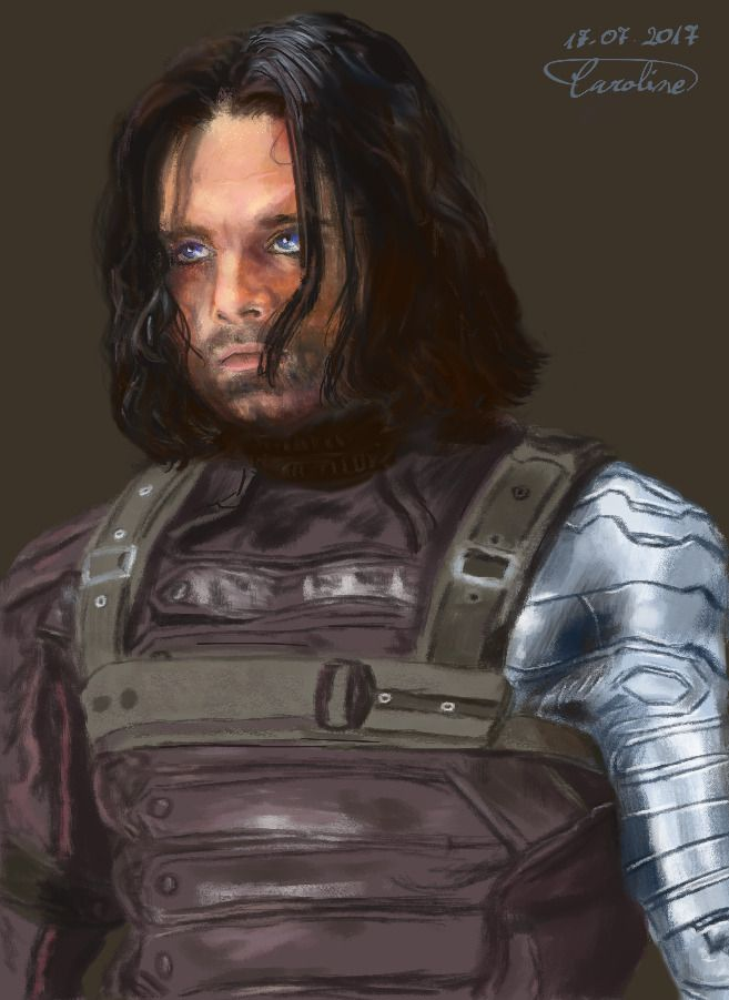 I thought I'd put here Bucky I painted a week ago :)