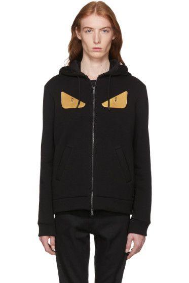 39d29d411c7f Fendi - Black Wool  Bag Bugs  Hoodie