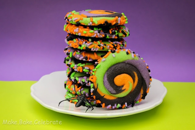 Halloween: Food: Swirly Cookies