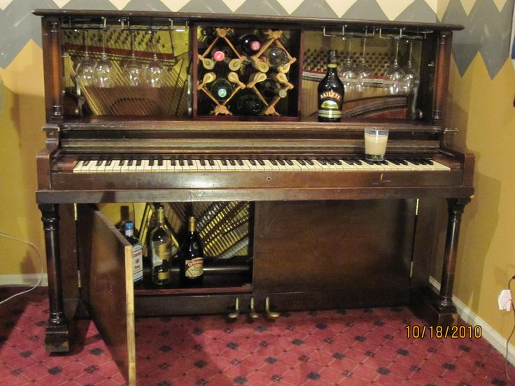 Piano Bar #Bar, #Piano, #UpcycledFurniture