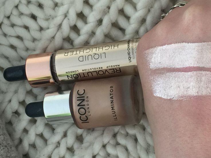 Iconic London Dupe - Makeup Revolution liquid highlighter. Both amazing products! Www.beautyforeveruk.wordpress.com