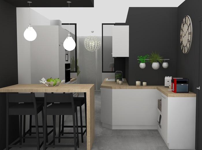 N 39 h sitez pas contacter l 39 agence d 39 architecture d for Amenagement cuisine carree