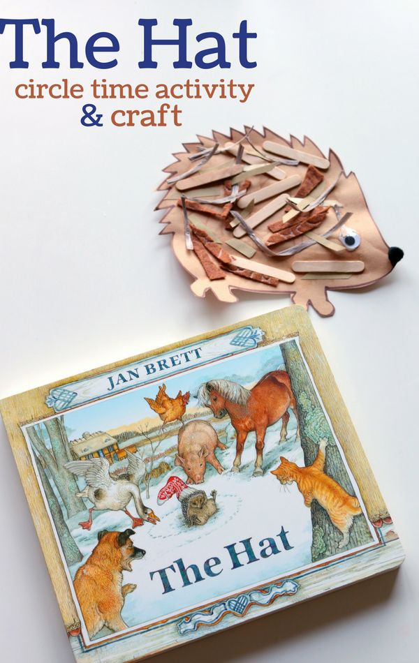 "Love this winter activity with this beautiful book, ""The Hat!"" A beautiful story with a simple craft-perfect for kindergartners!"
