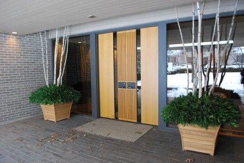 15 stunning midcentury entry design pinterest mid century modern modern front door and entryway. Black Bedroom Furniture Sets. Home Design Ideas