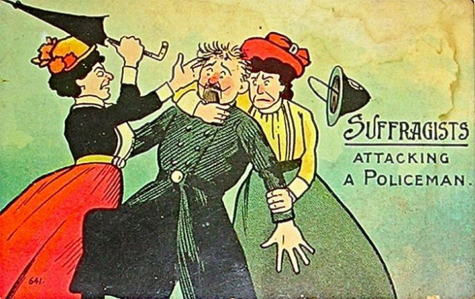 Anti-Suffragette Cartoons and Poster