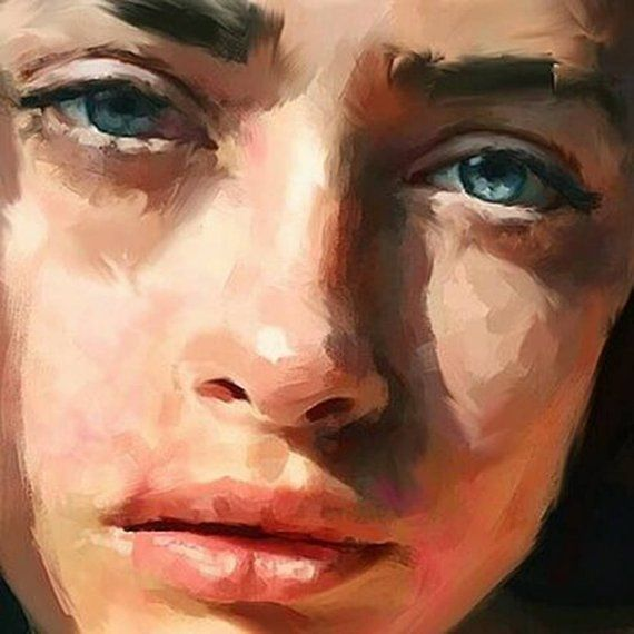 In the sun, detail_ Portrait Giclée Paper and Can…