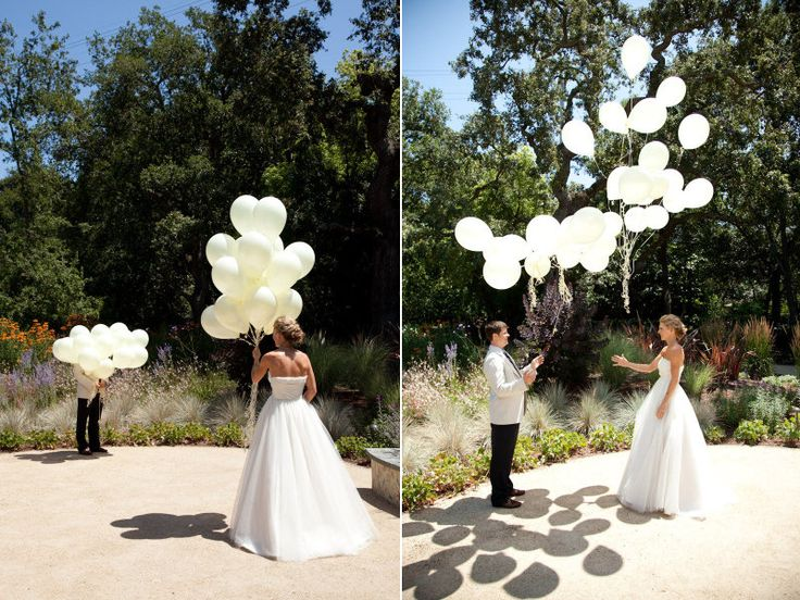A Balloon Release To Hide Your View Of Spouse BeLet Go The Same Time For First Look