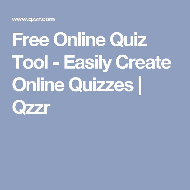 Free Online Quiz Tool - Easily Create Online Quizzes | Qzzr