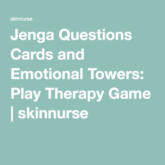 Jenga Questions Cards and Emotional Towers: Play Therapy Game