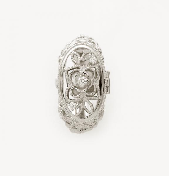 遺骨リング 花シリーズ バラ リング11号 手元供養の未来創想 遺骨 リング 指輪