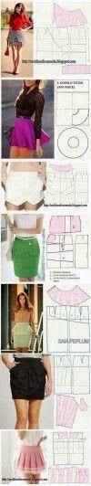 Tutoriales y DIYs: Patrones para faldas