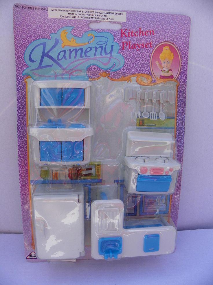 Vintage Kameny Dollhouse Furniture Set , 1970's Kameny Plastic Doll House Kitchen Set , Miniature Kitchen , Mini Oven Stove , Mini Diorama by ShersBears on Etsy
