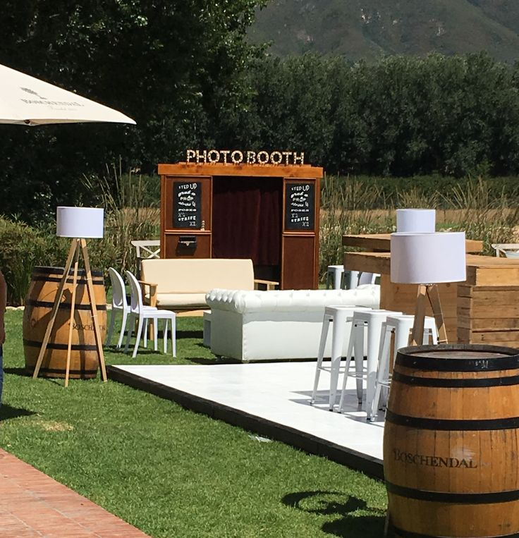 We had our photo booth on a wine farm for a hot summers wedding in Stellenbosch #photobooth #photo #booth #vintage #wedding #props #wooden photo booth #vintage photo booth #outdoor photo booth
