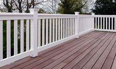 Geländer weiß für Balkon + Terrasse