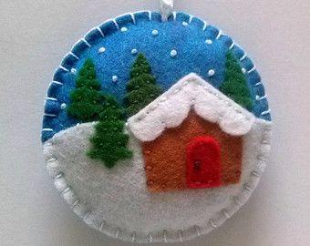Decorazione di Natale cervi del bambino ornamento / di DusiCrafts