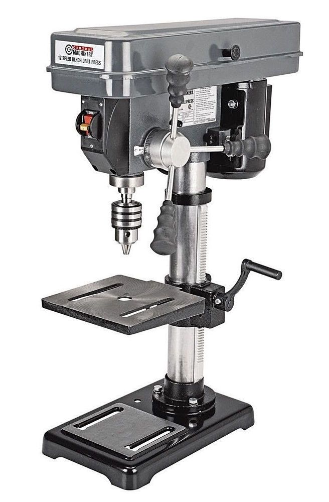 12 Speed Bench Drill Press Adjustable Depth 3 5 Hp 300 2900 Rpm Shop Garage New Centralmachinery Metal Working Tools Drill Press Auto Mechanics Tools