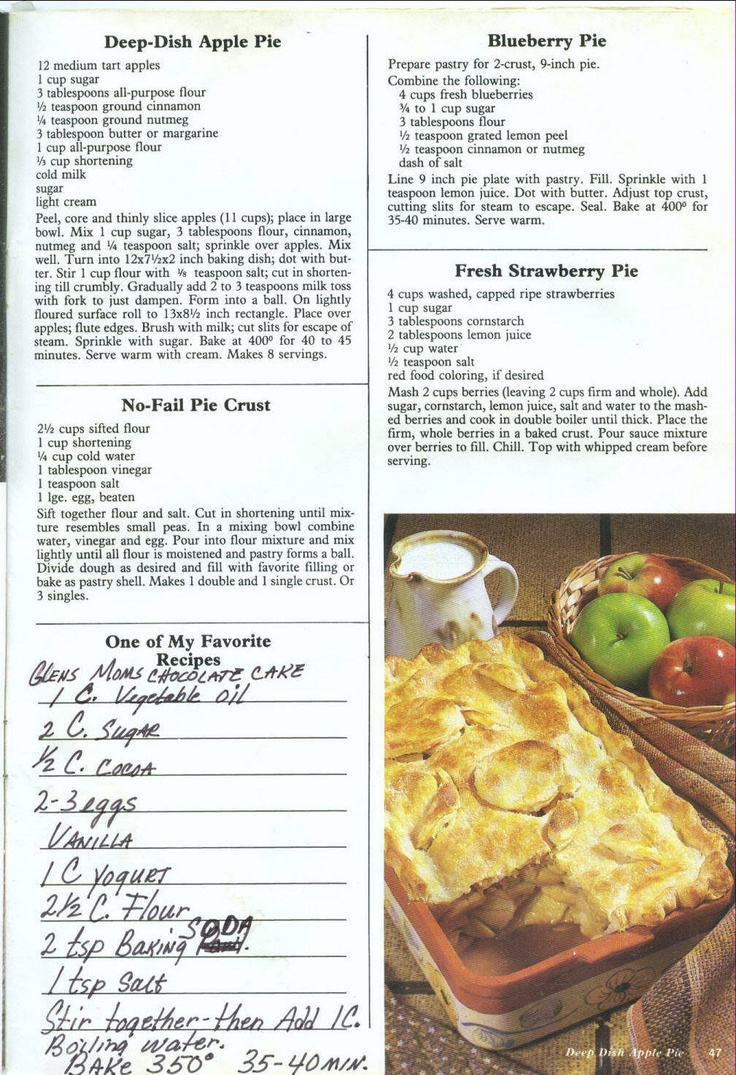 Deep Dish Apple Pie | Pies & Tarts | Pinterest