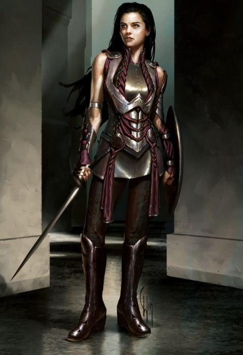 time-traveling-waitress:    [Image: A photorealistic illustration of Marvel comics character Sif. She is dressed in armor and has her sword at her side and shield on her other arm while she looks off to the side determined.]  xombiedirge:    Sif by Charlie Wen
