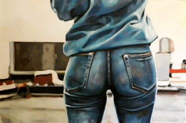 "Saatchi Art Artist thomas saliot; Painting, ""Blue denim (sold)"" #art"