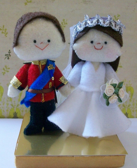 my felt creation  royal wedding felt dolls
