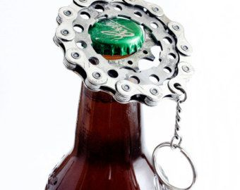 Bike Bottle Opener Bicycle Bottle Opener Unique by treadandpedals