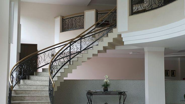 Stairs, Hotel Carmen Palace,  São Lourenço, MG, Brasi