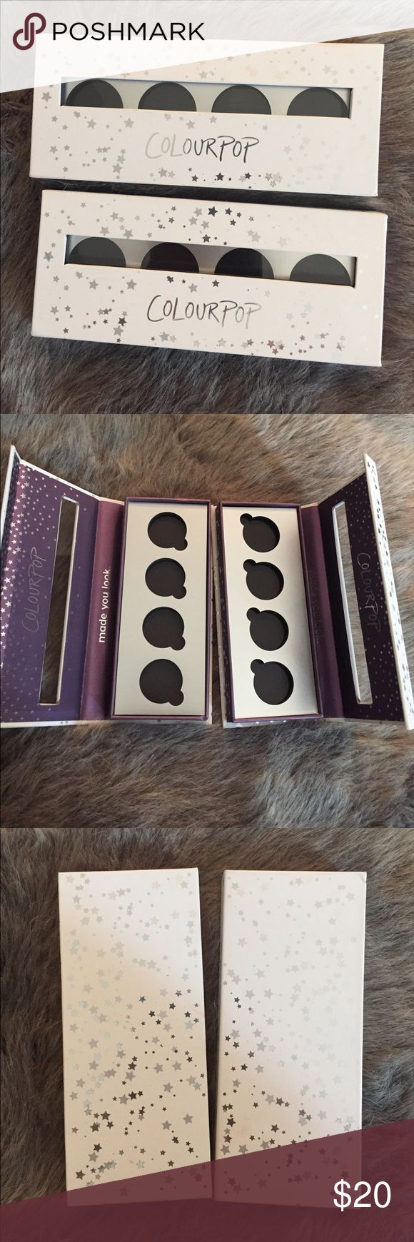 NWT Colourpop empty eyeshadow palettes NWT 2 Colourpop empty eyeshadow palettes Colourpop Makeup