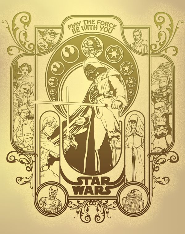 star wars mucha star wars art nouveau mucha madness pinterest star wars art war and art. Black Bedroom Furniture Sets. Home Design Ideas
