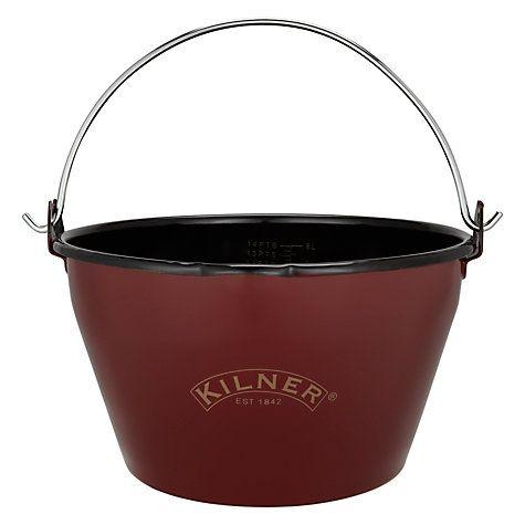 Buy Kilner Enamel Finish Jam Pan, Red Online at johnlewis.com