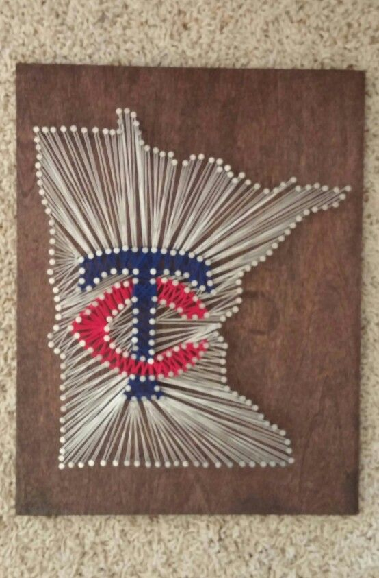 Minnesota Twins string art! ⚾