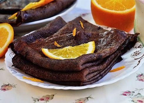 Шоколадные блины - рецепт с пошаговыми фото / Меню недели