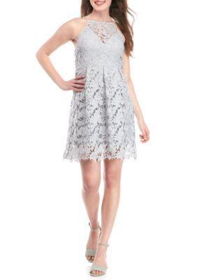 Paper Crane Girls' Lace Empire Waist Dress -  - No Size