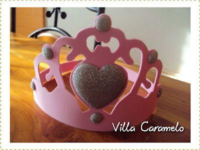Corona de Goma Eva o Foami con patrón: Eva Foami, Crown, Corona Princesa, Princesses Crowns, Corona Goma Eva, Foamygoma Eva, Rubber, Villas Caramelo, Corona Cumpleaño