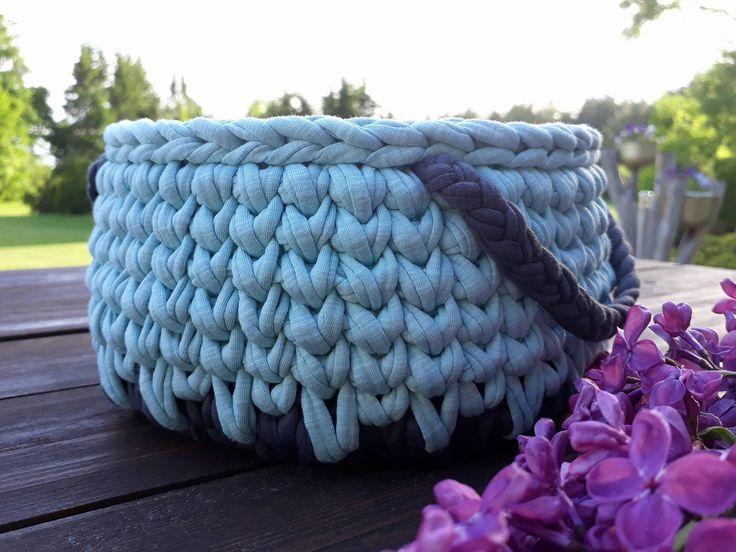 Crochet Basket by DSahver on Etsy