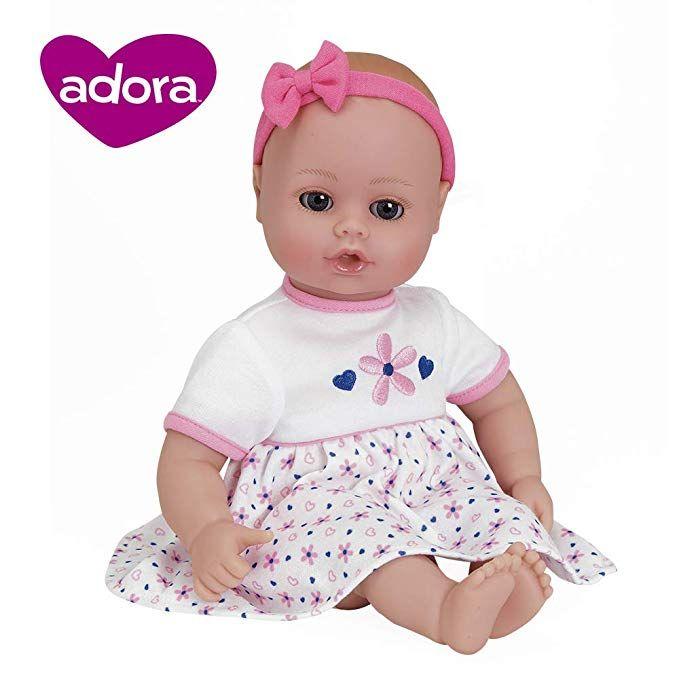 Adora Playtime Baby Petal Pink 13 Inch Vinyl Girl Baby Doll Toy