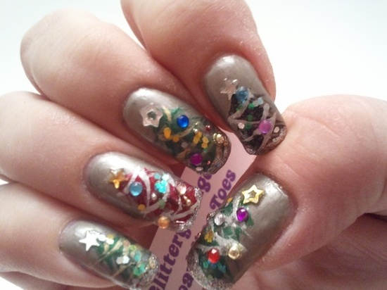 Glittery Fingers Sparkling Toes: Christmas Trees-12 Days of Christmas...