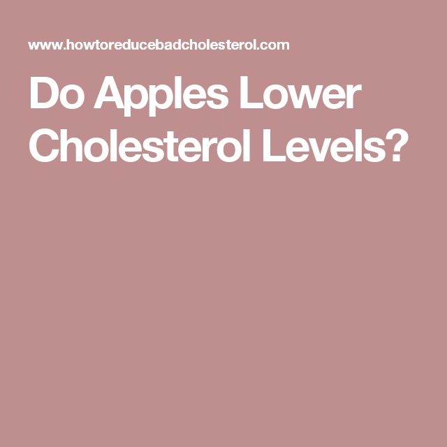 Do Apples Lower Cholesterol Levels?