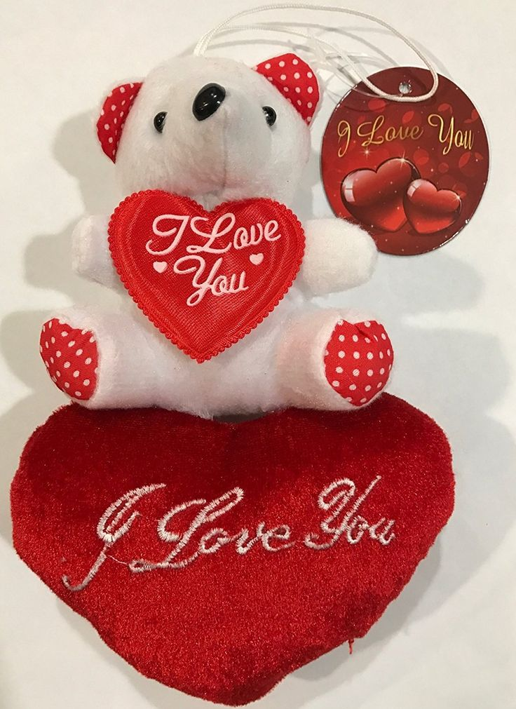 Valentines Teddy Bear with Heart that says I Love You -- Learn more by visiting the image link.