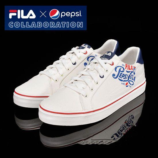 [Fila x Pepsi] Limited Original Canvas Shoes All Unisex Size White + Tracking  #Fila #CasualShoes