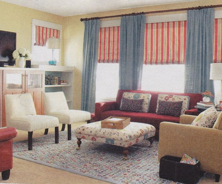 Similar Color Scheme To My Family Room Blue Living RoomsLiving IdeasCountry