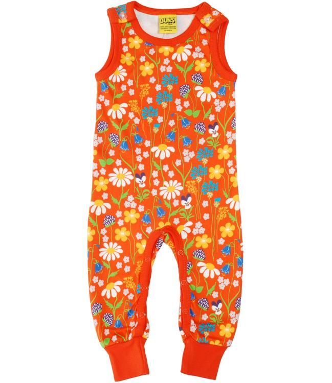 Duns Sweden Organic Dungarees - Midsummer Flower Retro Baby Clothes - Baby Boy clothes - Danish Baby Clothes - Smafolk - Toddler clothing - Baby Clothing - Baby clothes Online