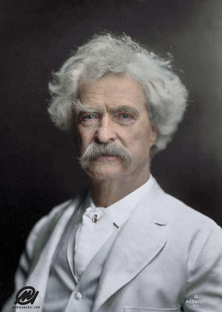 Mark Twain colorized Mark twain quotes, Most famous