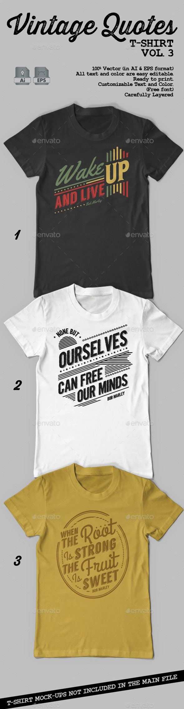 Vintage Quotes T-Shirt Vol. 3