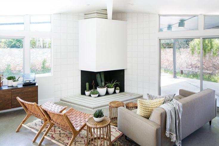 Graphic Mid Century Modern Newport Beach Home Tour Home Decor