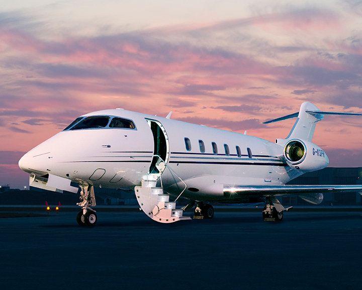 Bombardier Challenger 300 Private Jet. VIP flight attendant training.